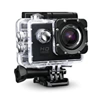 Teconica 1080p 12MP Sports Waterproof Camera with Micro SD Card Slot and Multi Language Action Video up to 30M 2 inch LCD Wide Angle - Assorted Colour