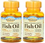 Cheap Sundown Naturals Naturals Odorless Premium Omega-3 Fish Oil, 72 Softgels (Pack of 2) Total 144