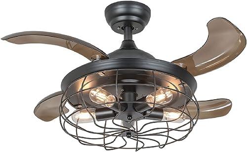 36-Inch Vintage Retractable Ceiling Fan
