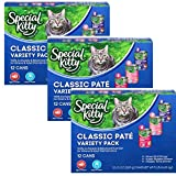 Special Kitty Classic Pate Variety Pack Wet Cat Food, 13-Ounce Cans (3-Pack of 12) Larger Image