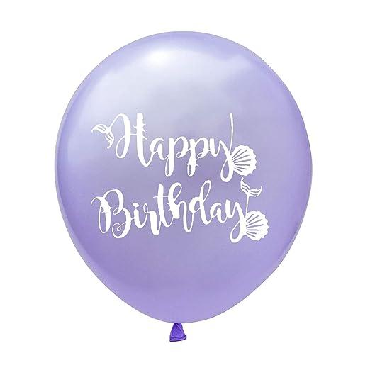 100 Piezas Tiffany Azul Púrpura Sirena Globos Feliz ...