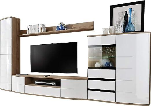 Domovero Timore 2 - Mueble de Pared para televisor con Luces LED, Color: Amazon.es: Juguetes y juegos