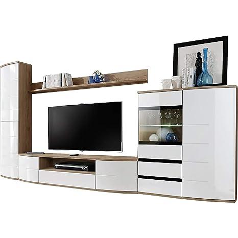 Amazon.com: domovero Timore 2 unidad de pared TV muebles ...