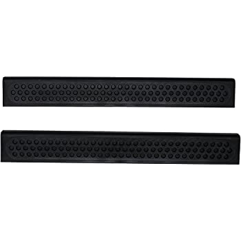 auto ventshade 88407 stepshield black door sill protector universal 2 piece set. Black Bedroom Furniture Sets. Home Design Ideas