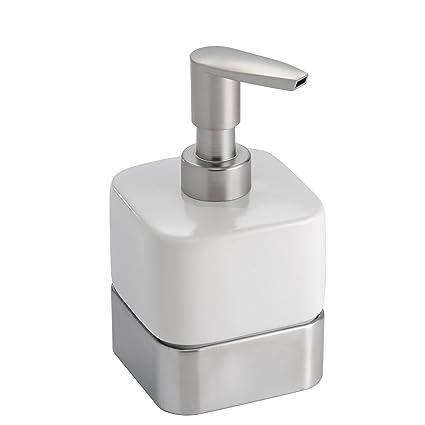 mDesign Small Mini Compact Ceramic Liquid Hand Soap Dispenser Pump Bottle for Kitchen Sink Bathroom  sc 1 st  Amazon.com & mDesign Small Mini Compact Ceramic Liquid Hand Soap Dispenser Pump ...