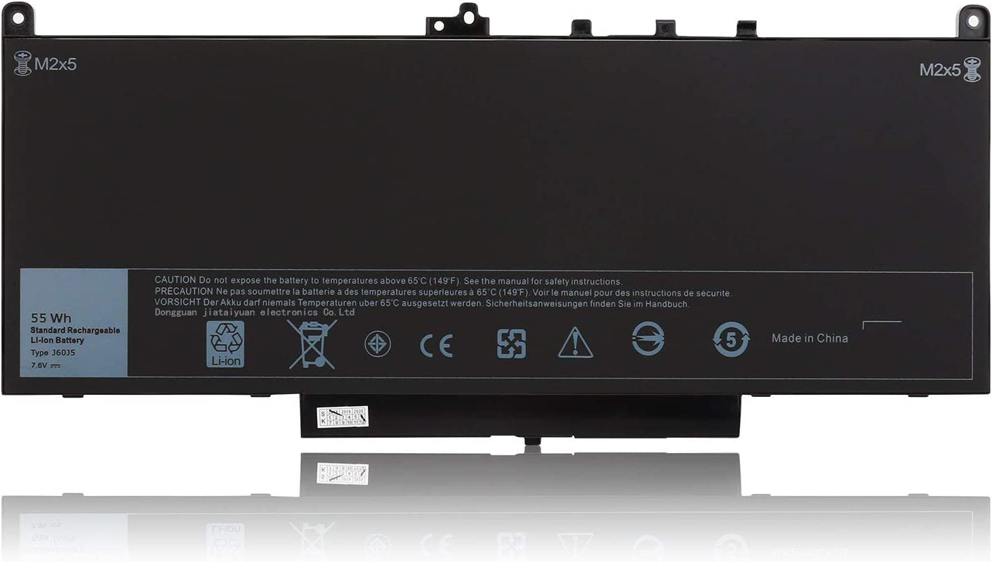J60J5 Battery 7.6V 55Wh Compatible with Dell Latitude E7470 E7270 7470 7270 451-BBSY 451-BBSX 451-BBSU WYWJ2 R1V85 MC34Y 242WD PDNM2 1W2Y2 GG4FM F1KTM NJJ2H 5F08V P61G001 P26S001 J6OJ5 Laptop Battery