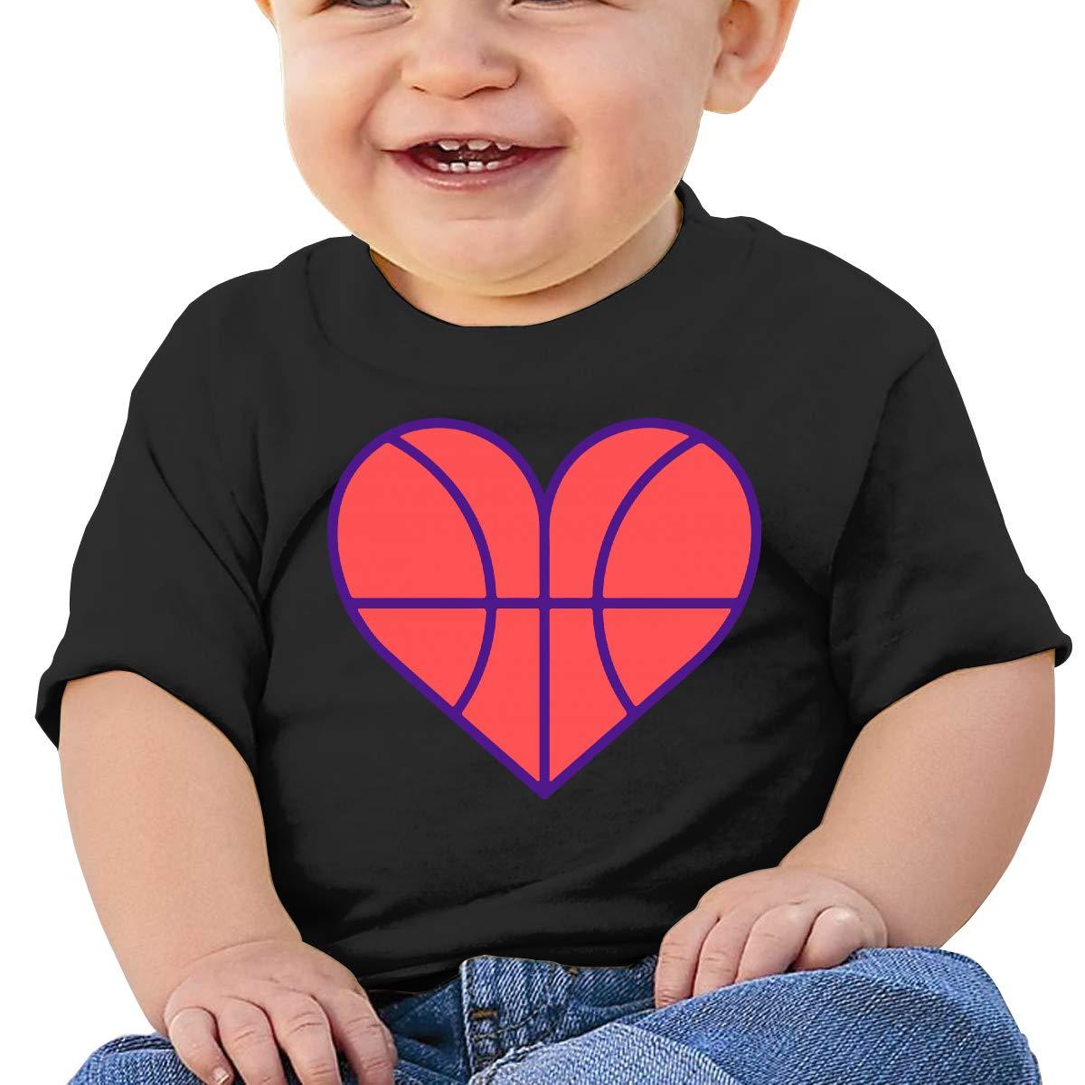 Basketball Love Baby Girl Newborn Short Sleeve T-Shirt 6-24 Month Cotton Tops