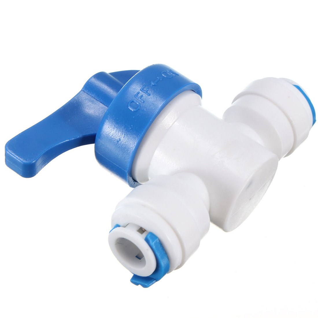 Water ball valve - TOOGOO(R)6mm 1/4 ''ball stopcock ball valve with clutch stopcock RO System