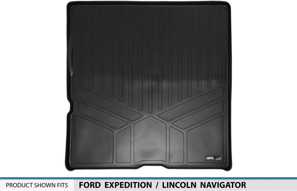 No EL or L Models MAXLINER All Weather Cargo Liner Floor Mat Behind 2nd Row Black for 2003-2017 Ford Expedition//Lincoln Navigator