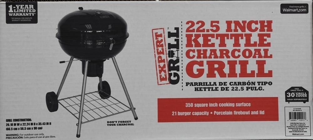 Expert Grill 22.5-Inch Kettle Charcoal Grill (Black)