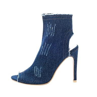 443e19cfaec2 DENER Women Ladies Summer High Heels Sandals Booties