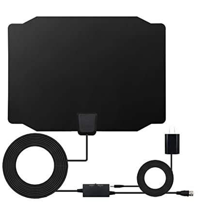 HDTV Antenna, 2018 Newest Style Digital Indoor 60-80 Miles Range Signal Booster Switch