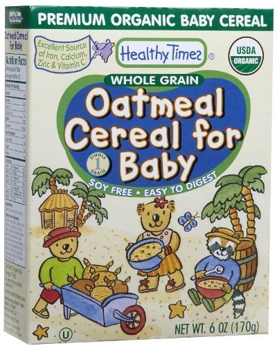 Whole Grain Oatmeal Cereal for Baby, 6 oz (170 g) by Healthy Times