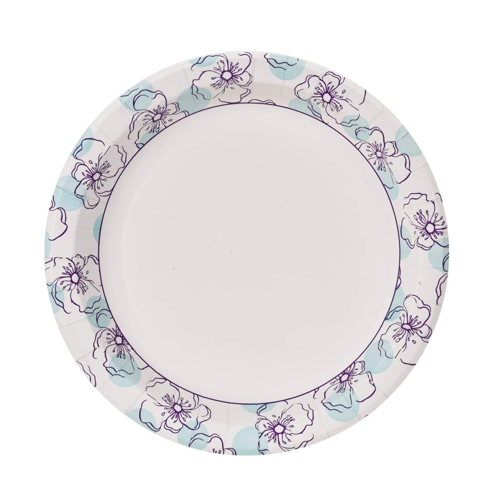 Glad Square Disposable Paper Plates for All Occasions Soak Proof Microwaveable Heavy Duty Disposable Plates 10 Diameter Cut Proof 600 Count New /& Improved Quality