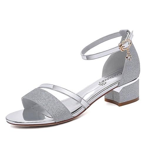 tacchi Tacco itScarpe sandali Signora estate Moda GattinoAmazon RjA534L