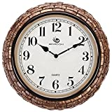 Jedfild The 15-inch personalized creative mute wall clock living room style European style coconut shell Clock