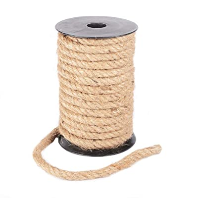 Junxia Natural Strong Jute Rope 15Yard 8mm Hemp Rope Cord for Crafts DIY Decoration Toy Gift Wrapping (8 mm): Office Products