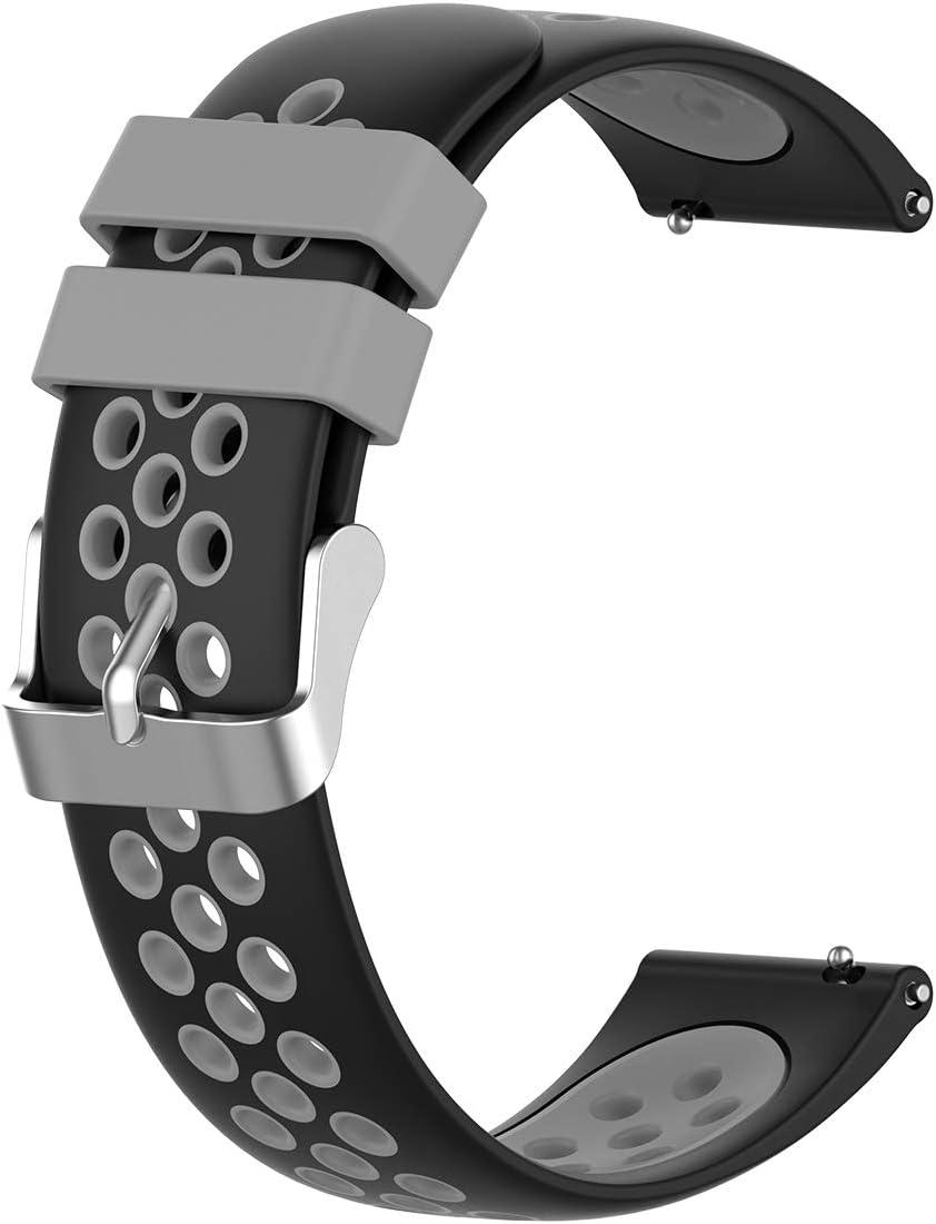 Malla para reloj Garmin Vivoactive 4S - 18mm (negra y gris)