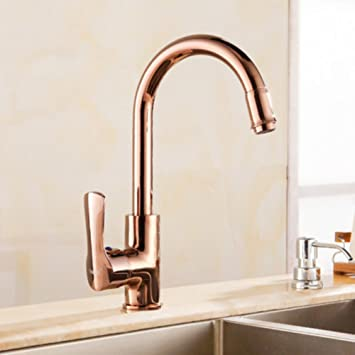 European Antique Faucet Single Hole Faucet European Gold Kitchen