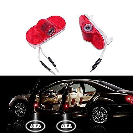 deleika 2pc coche LED luz de advertencia de puerta Ghost Shadow ...