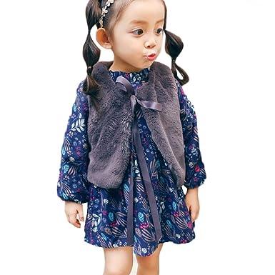 708a678065b20 子供服 ワンピース Lucaso 人気 女の子 ベビー服 お姫様 可愛い 長袖 ベスト付き リボン フリル ふわふわ 韓国