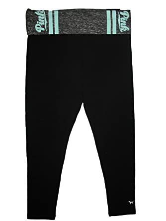 f9d0519d9ca80d Amazon.com: Victoria's Secret PINK Yoga Foldover Legging Pant Large ...