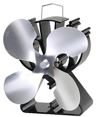 Amazon.com: Ventilador de estufa de 4 cuchillas para leña ...