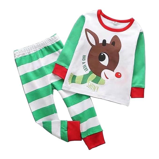ZEVONDA Niños Chico Chica Navidad Dibujos animados Pijamas Top Manga Larga Pantalones
