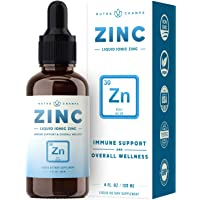 Organic Zinc Sulfate Liquid Supplement - Immune Support System Boost - Pure Ionic...
