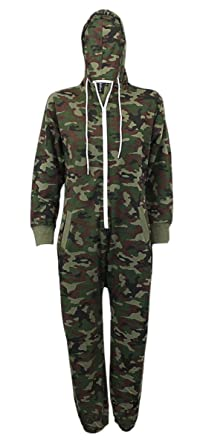New Kids Unisex Camouflage All in One Piece Hooded Jumpsuit Girls Boys 7-13 Year
