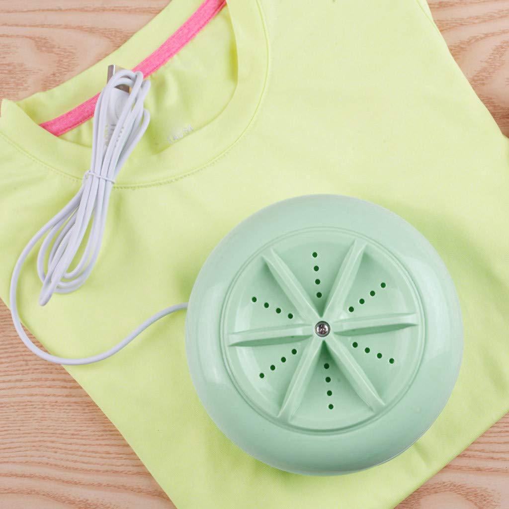 Amazon.com: Mini USB Portable Ultrasonic Turbine Washing Machine Spin Dryer Laundry Washer Cleaning Machine (Pink): Kitchen & Dining