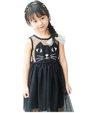 a588d835eee6e Syula 子どもワンピース 子供服 ワンピース ガールズ おしゃれ 女の子 子供ドレス 可愛い ブラック ...
