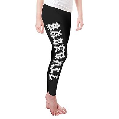 c803fcbd4d83b Amazon.com: Twisted Envy Baseball Women's Funny Leggings: Clothing