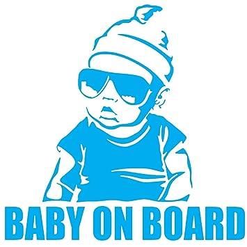 Bebé a bordo de moda creativa etiqueta engomada del coche ...