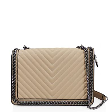 a8ba5abfe581 LeahWard Women s Chain Trim Shoulder Handbags Cross Body Bags 13 (Apricot  Quilted ...