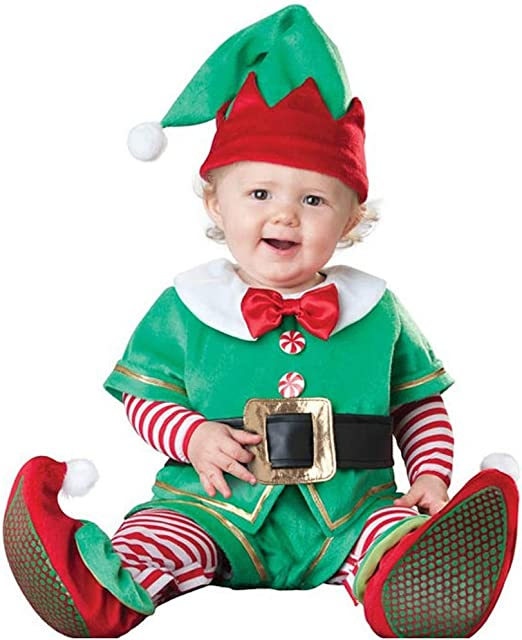 Santa Elf in Charge Baby Christmas Toddler Costume