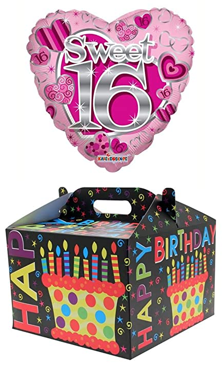 Cards Galore Online Heart 18 16th Birthday Foil Helium Balloon In Box