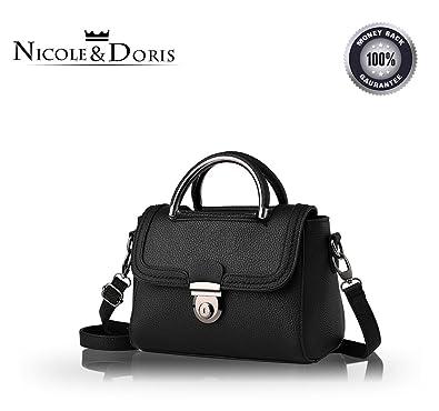 74911df996e NICOLE DORIS new small square bags shoulder messenger bag ladies women  handbags(Black)