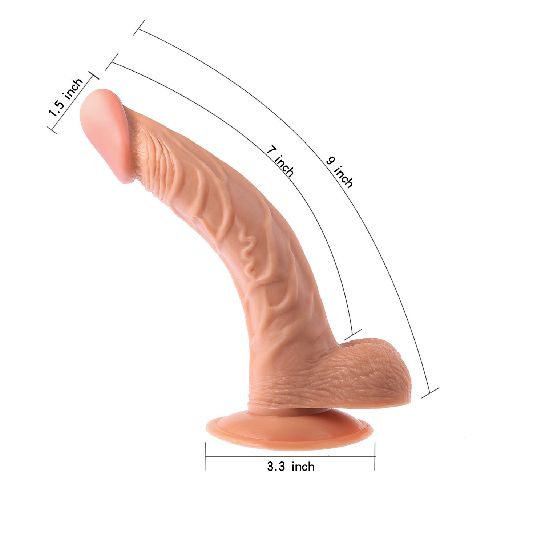 lcc Extra Largo Chupar Consolador Chupar Largo Taza 9,05 Pulgadas Simulación Pene Dama Masturbación Anal Plug G Punto Rápido Llegada, Pareja Sexo Juguete Carne Color (Entrega Secreta) 52c31f