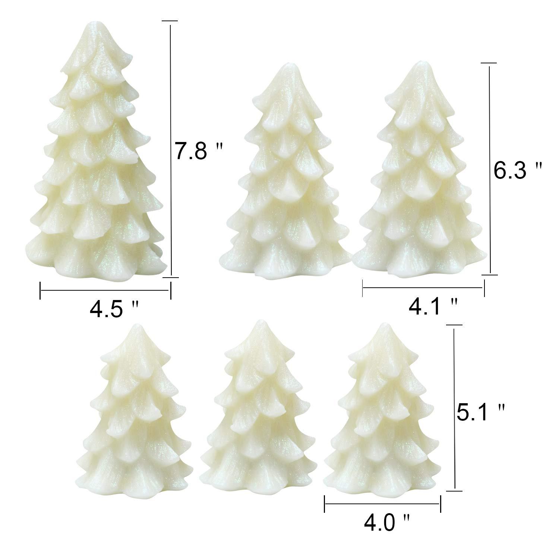Amazon.com: Eldnacele Christmas Tree Candles Battery Operated ...