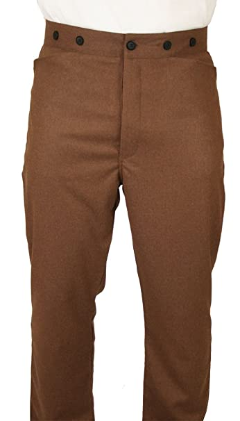 Men's Steampunk Costume Essentials Historical Emporium Mens High Waist Whitford 100% Wool Dress Trousers $75.95 AT vintagedancer.com