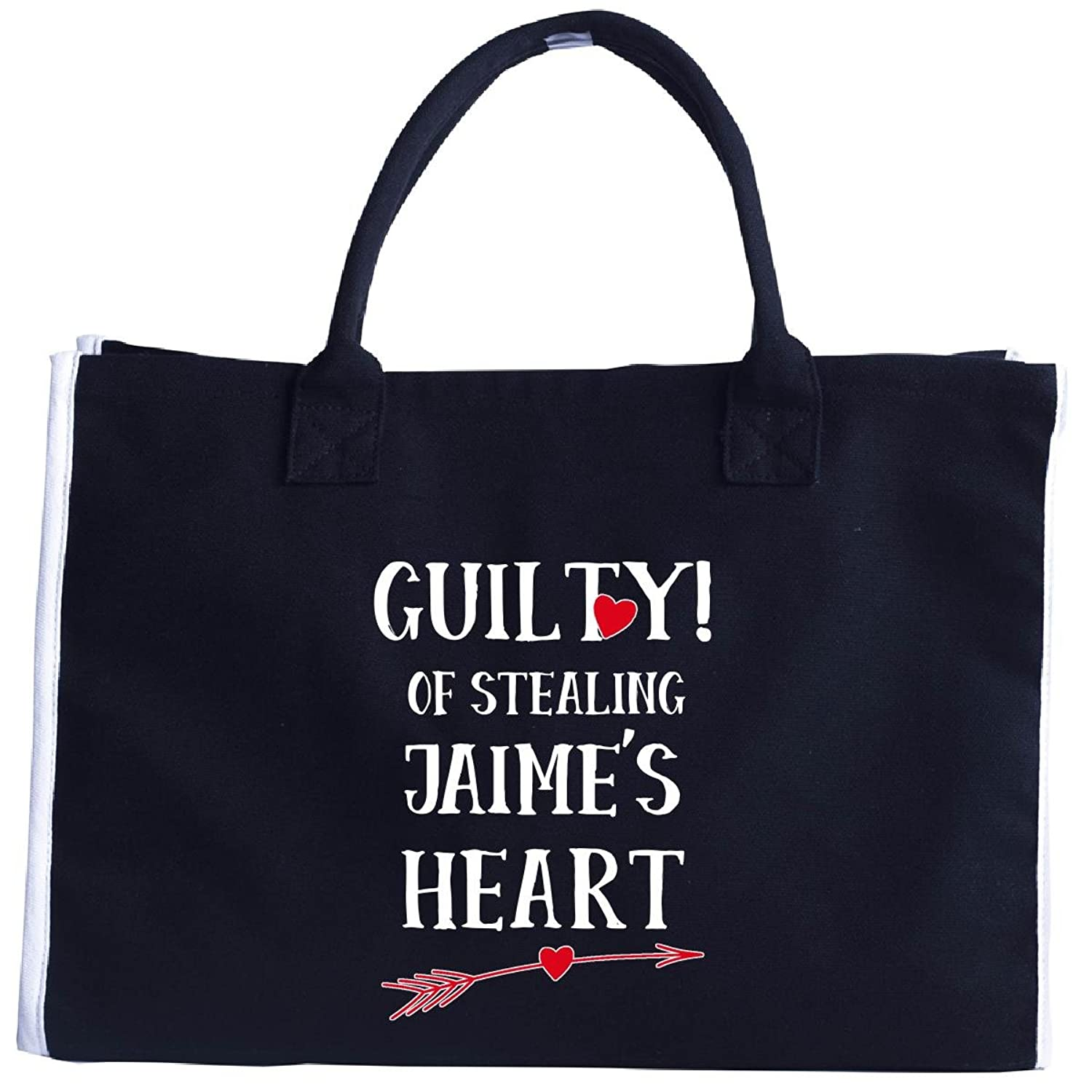 Guilty Of Stealing Jaime's Heart Funny Valentines Day - Tote Bag
