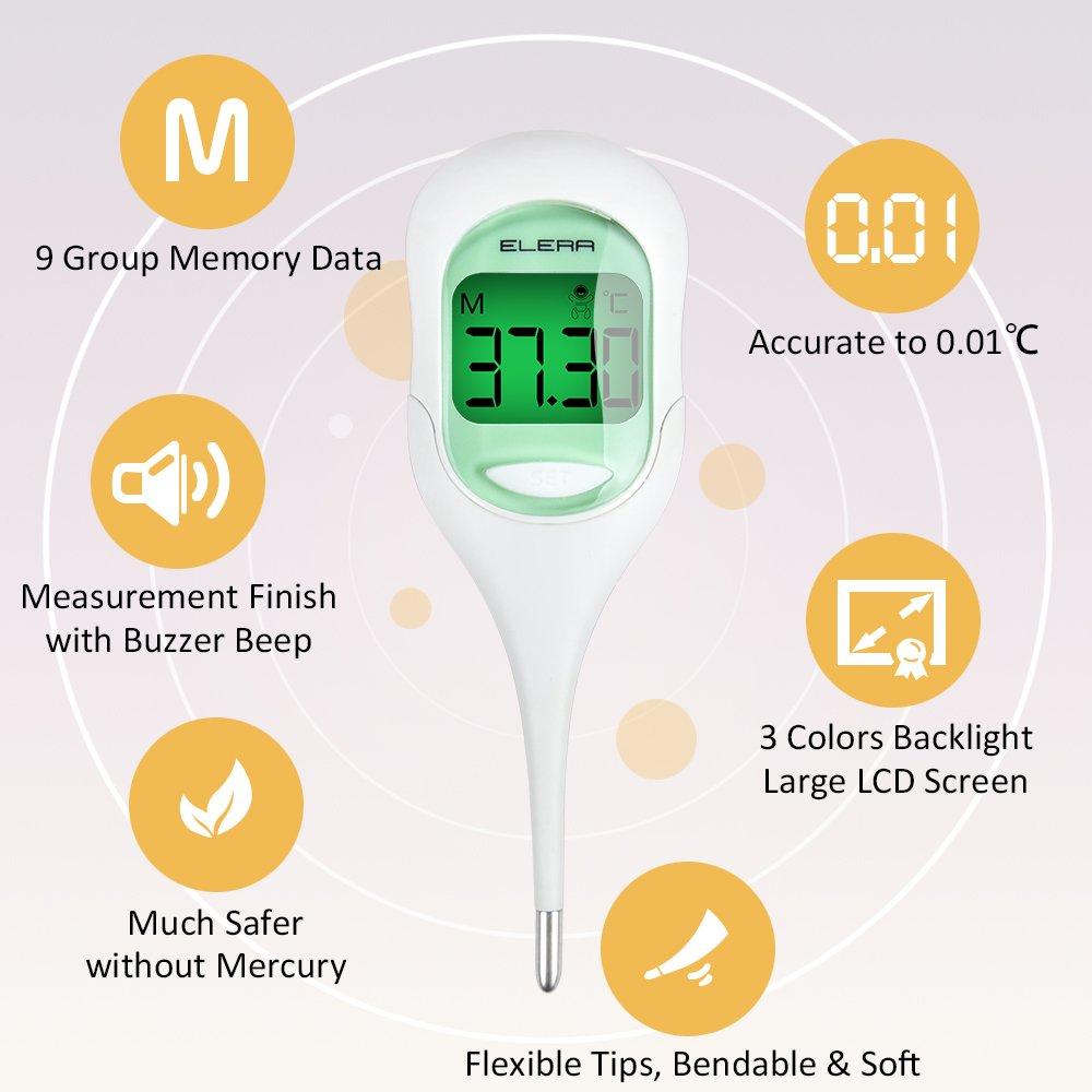Elera clínico Digital termómetro para bebé adultos Termómetro Médico oral abertura de ano: Amazon.es: Bebé