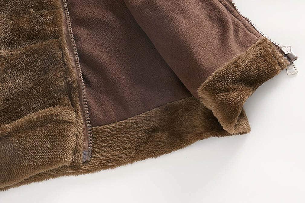 Infant Kids Baby Boy Girl Warm Hooded Coat Outerwear Zipper Long Sleeve Cartoon Animal Pocket Jacket Tops