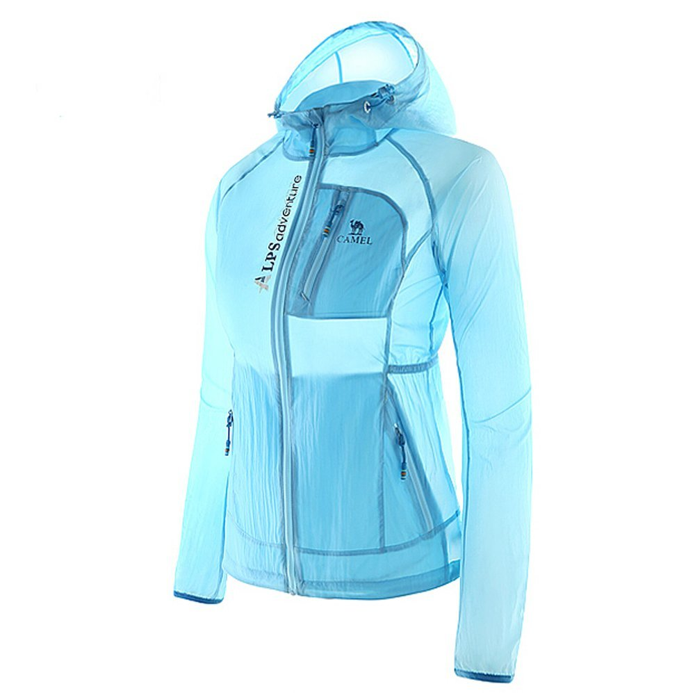 Camel Women's Super Lightweight Jacket Windbreaker Waterproof Sun Protection Quick Dry Skin Coat