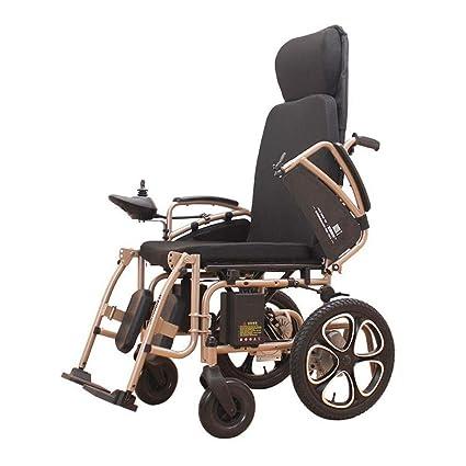 Y&XF Can Lie Flat Electric Silla de Ruedas Inteligente Automática Scooter Portátil Plegable Motorizada Silla de