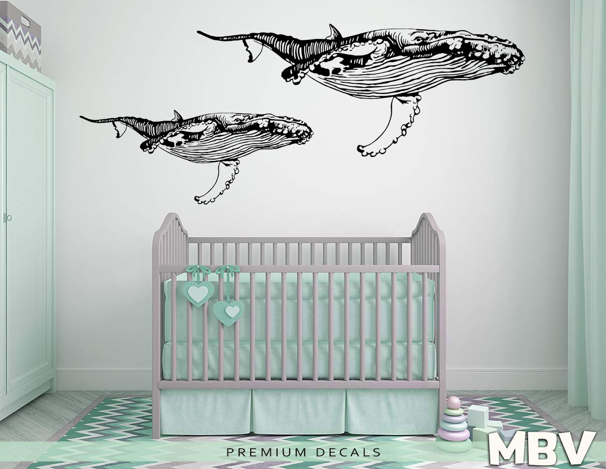 Art Nursery Room Decor GE346 Animal Sticker Paper Geometry Decal Bedroom Decor,Killer whale Custom Origami Whale Decal Whale Decal