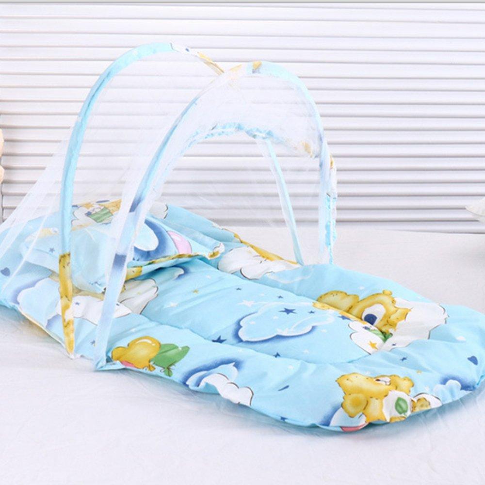 Pieghevole portatile del bambino letto zanzariera non hanno bisogno di installazione Baby Travel Sleeping culla insetti protezione COB tenda per bambini con cuscino AZX