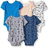 Rosie Pope Baby Boys 5 Pack Bodysuits (More Colors Available), Sunglasses/Nerd Theme, 0-3 Months