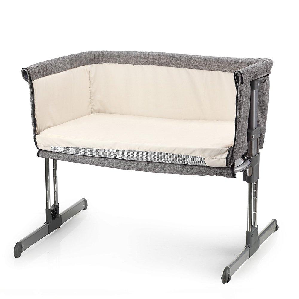 MiClassic – Bassinete de viaje plegable y ajustable, portátil, para recién nacido, color gris Ltd. MC05GREY